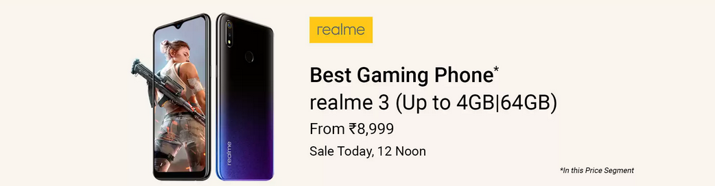 1a06fd58a Realme 3 on Flash Sale in India today at 12PM - Blog